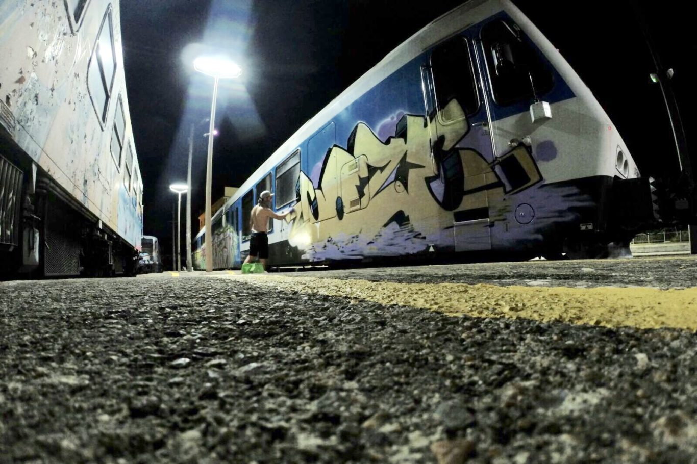 Coze - Graffiti train bombing europe