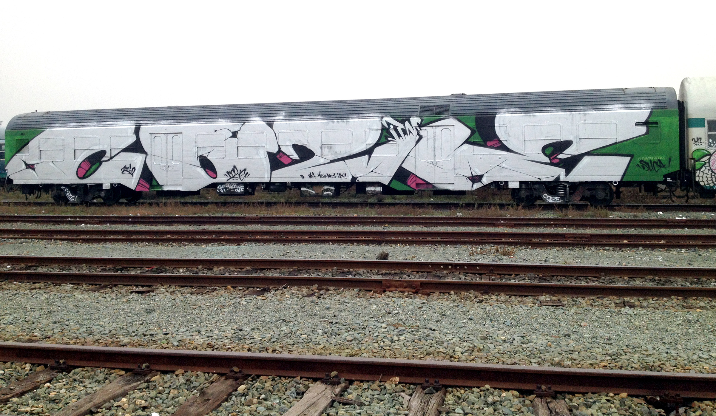 Wholecar graffiti Coze