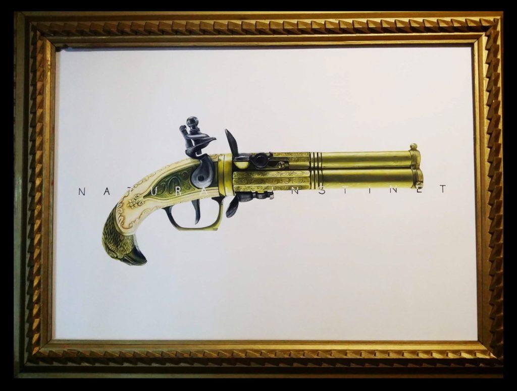 Natural Insinct - Spray colors on canvas, 75x105cm, 2018