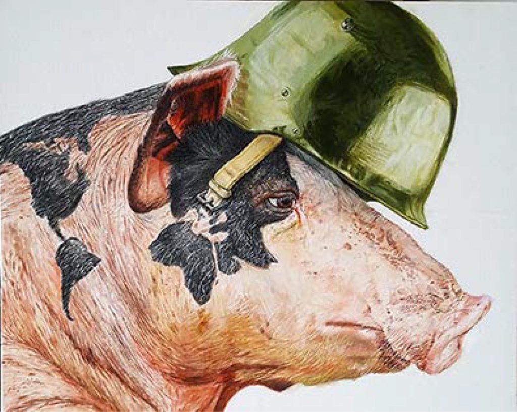 Porks make the World - Acrylic colors on canvas, 40x60cm, 2017