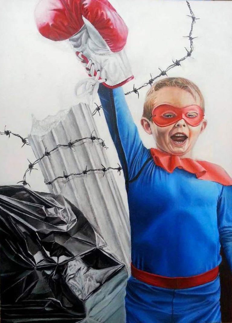 Hero of Tomorrow - Acrylic colors on canvas, 50x70 cm, 2017