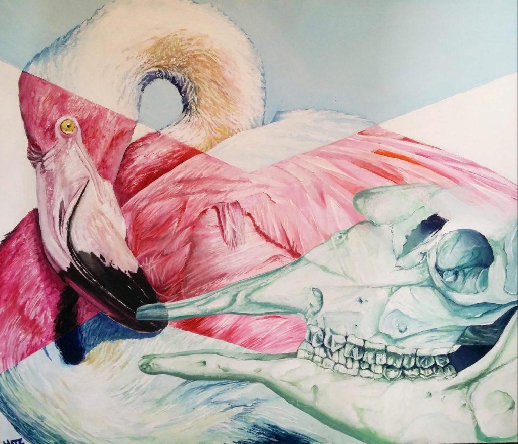 Life - Acrylic colors on canvas, 40x60 cm, 2017