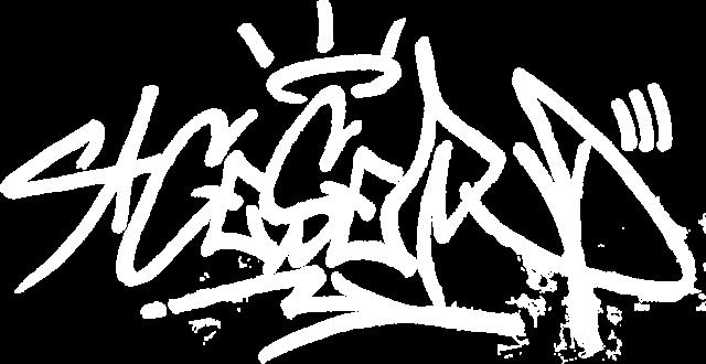 Ceser Graffiti tag white