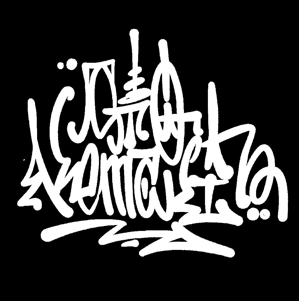 Stokemaki graffiti tag white