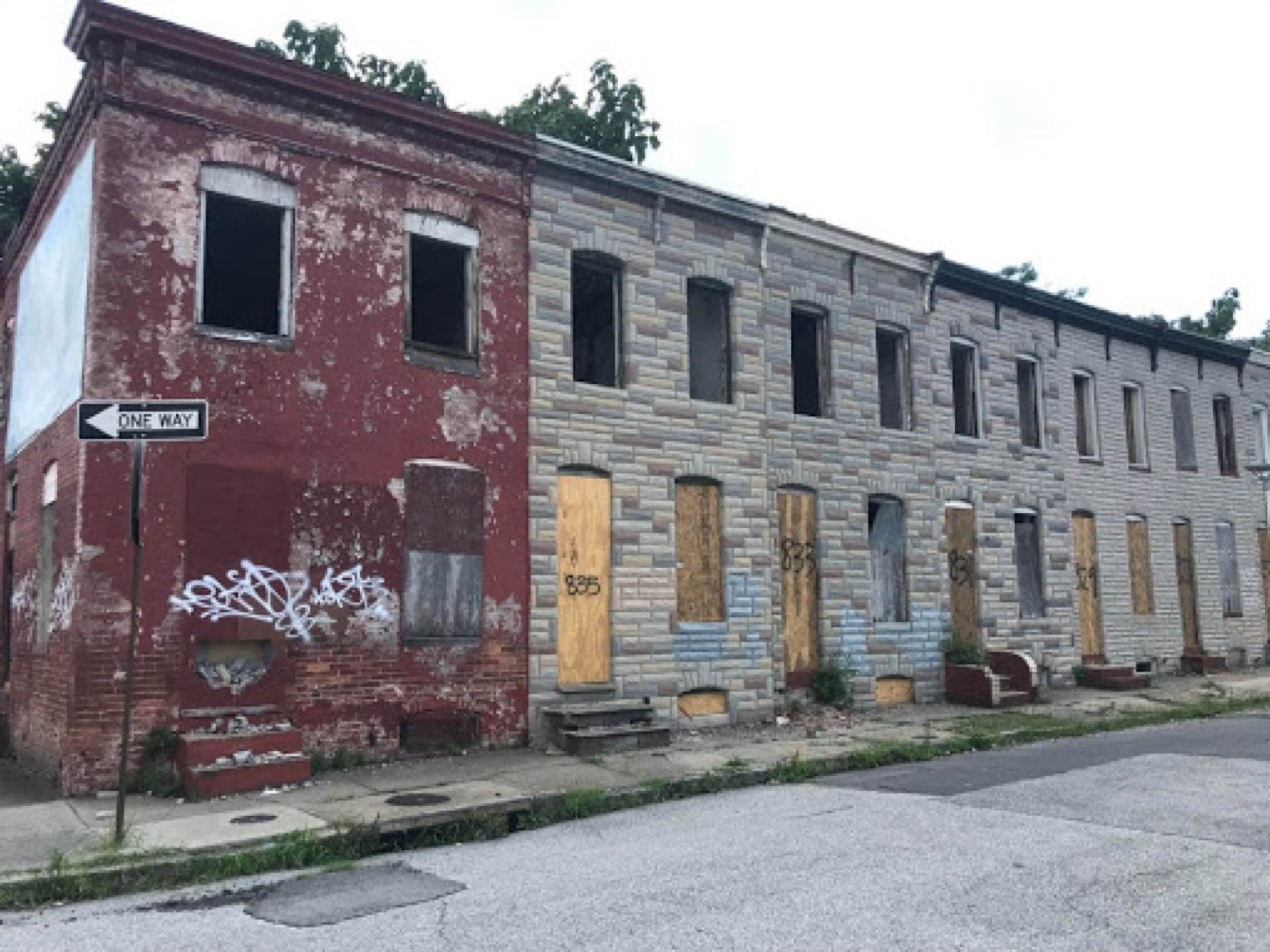 Case abbandonate a Baltimora.